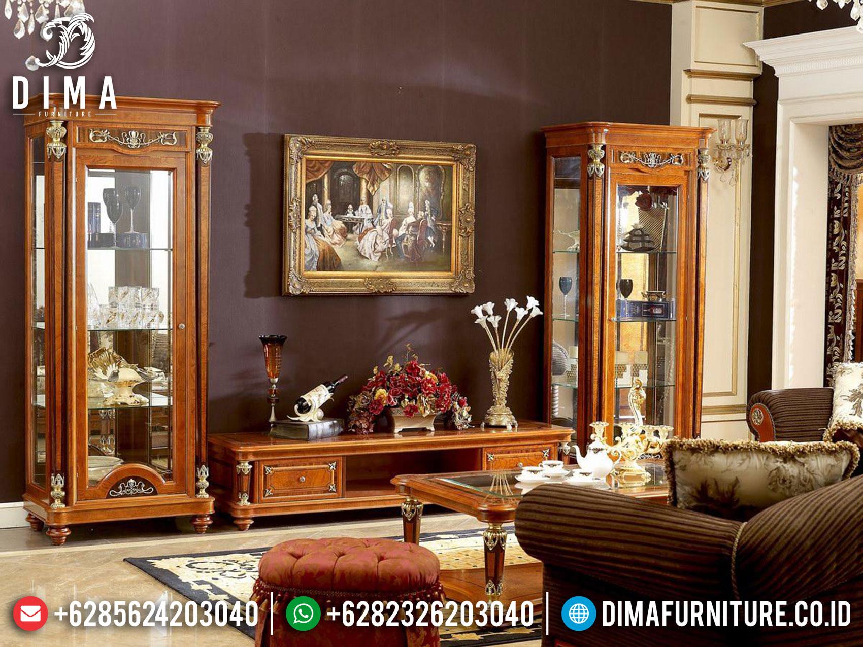 Meja TV Mewah Set Bufet TV Ukir Jepara Luxurious Elegant Design TTJ-1639