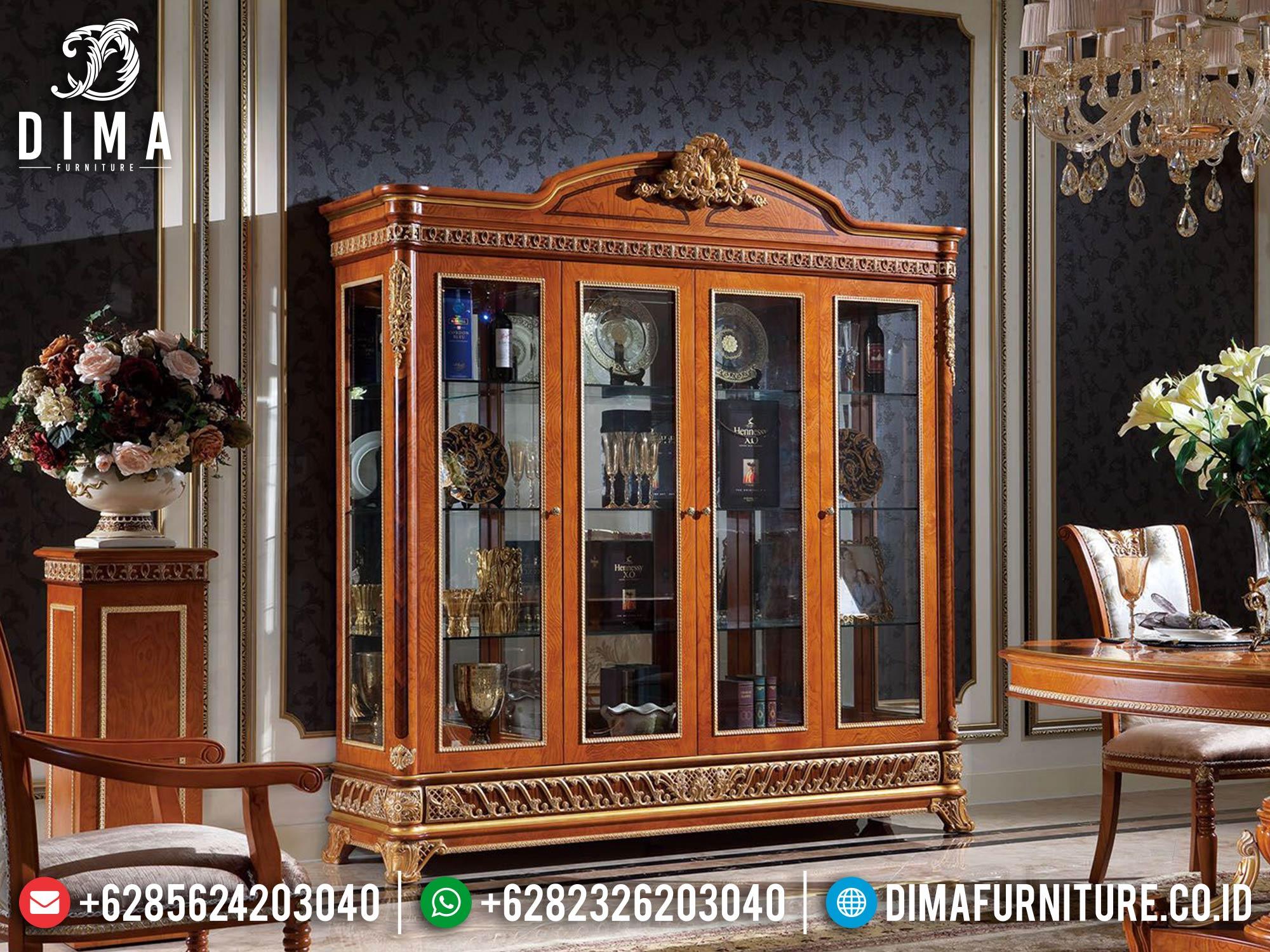 Model Lemari Hias Mewah Classic Luxury New Mebel Jepara TTJ-1676