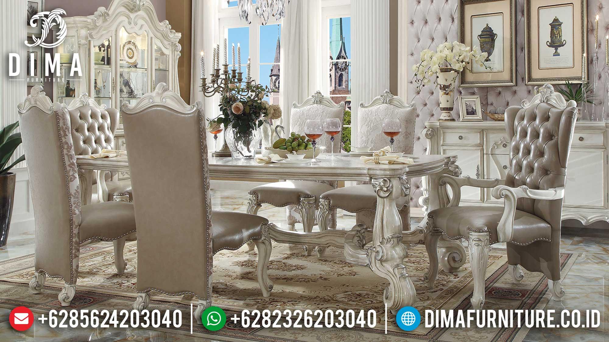 New Kursi Meja Makan Ukir Set Meja Makan Mewah Luxury Carving TTJ-1612