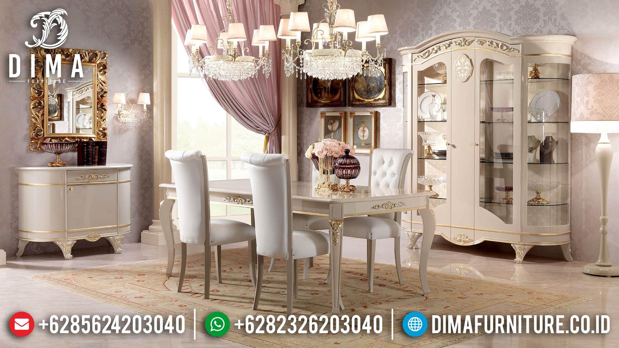 New Model Meja Makan Mewah Kursi 6 Luxury Carving Furniture Jepara TTJ-1602