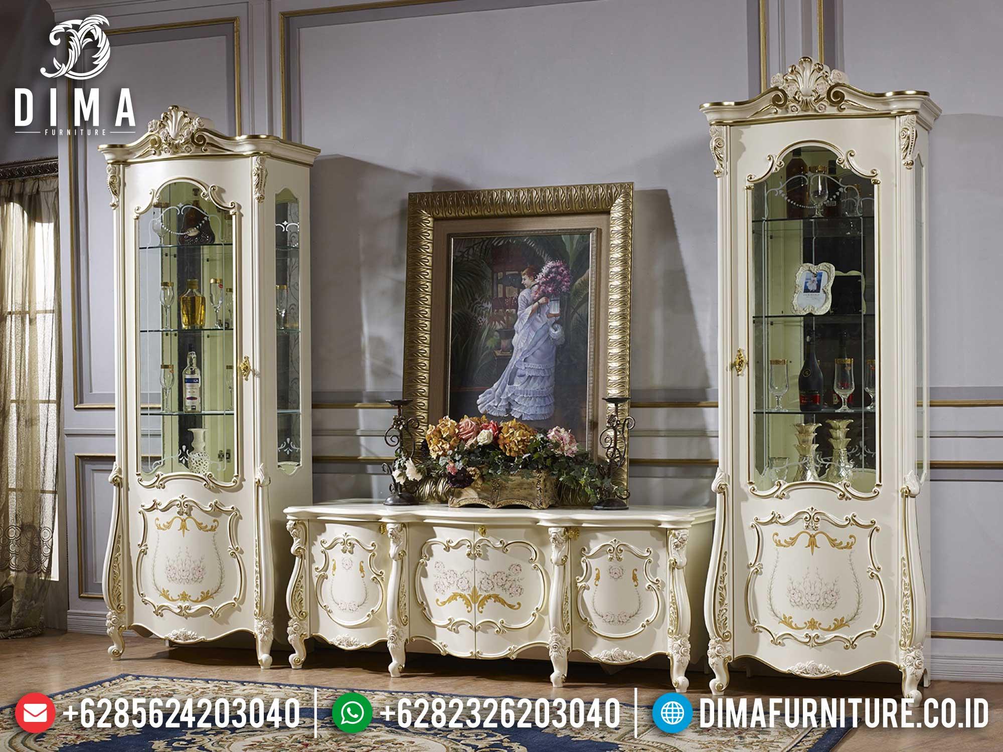 New Set Bufet TV Mewah Jepara Luxury Carving Discount Sale TTJ-1665