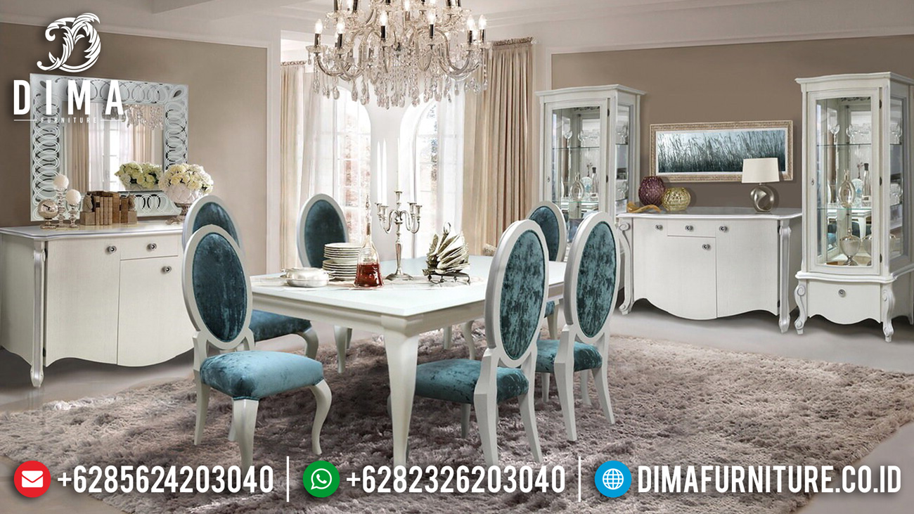 New Set Meja Makan Minimalis Luxury Furniture Jepara TTJ-1588