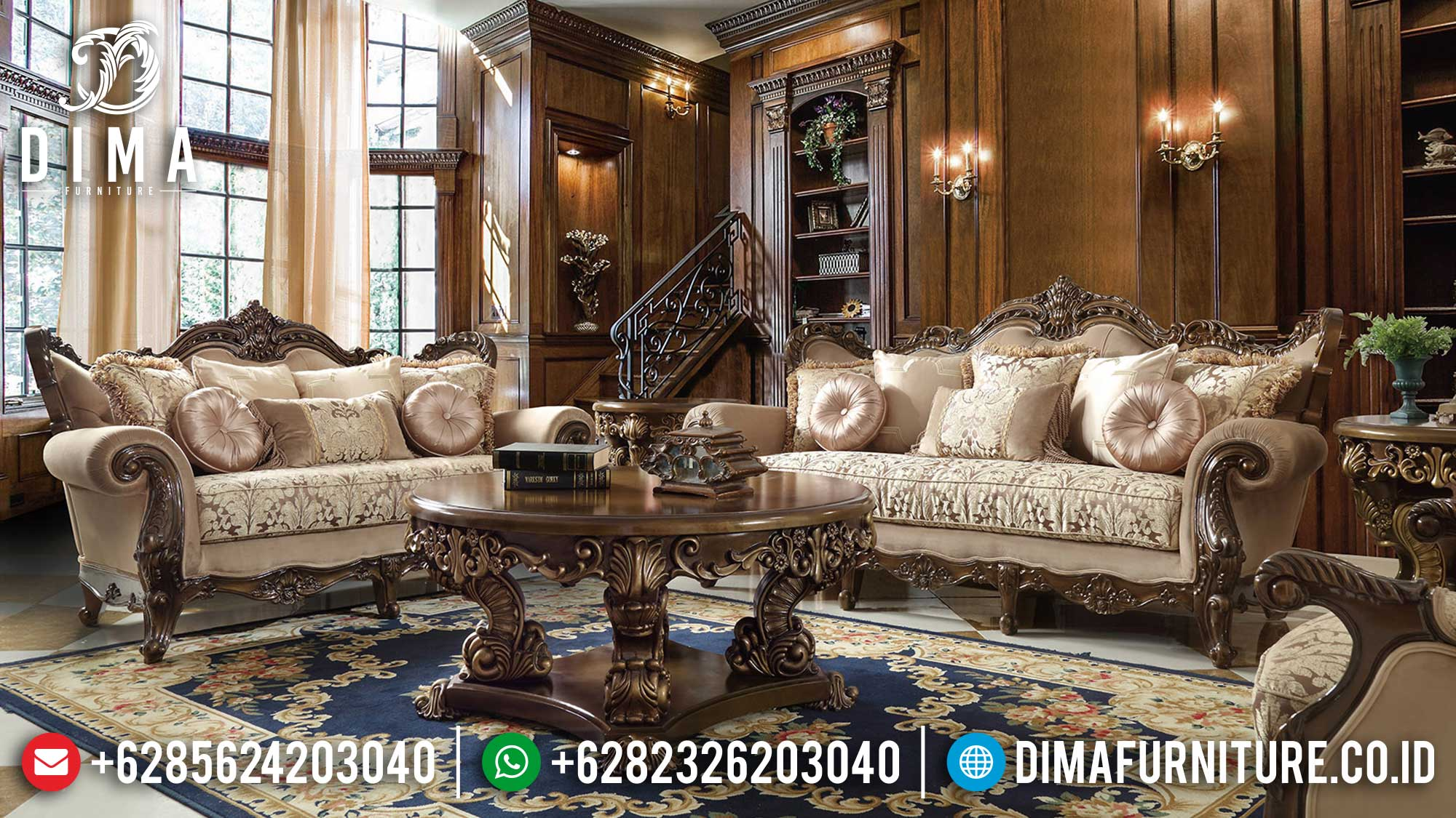New Sofa Tamu Mewah Terbaru Art Duco Luxury Carving TTJ-1619