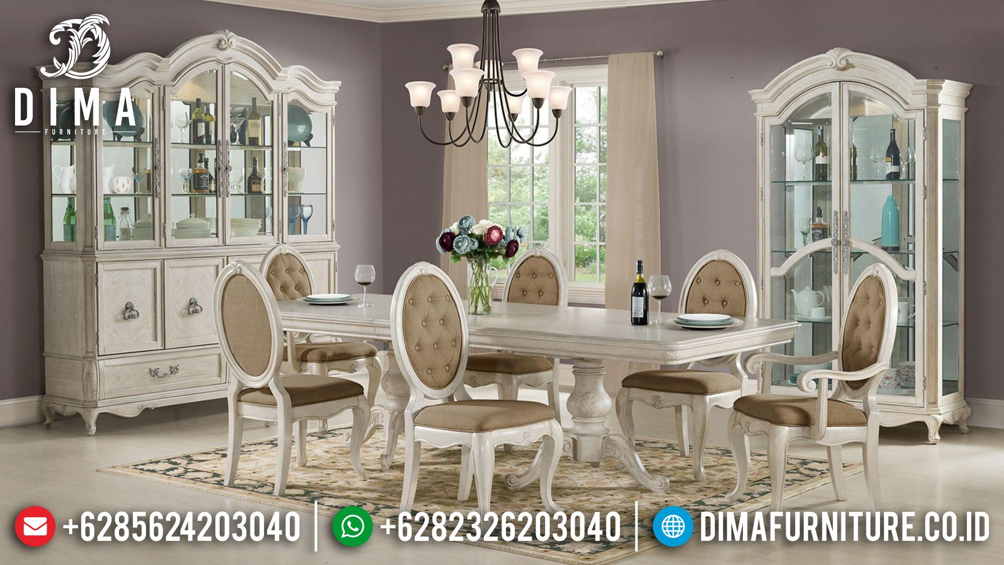 Harga Meja Makan Mewah Kursi 6 Luxury Carving Greatest Item TTJ-1685