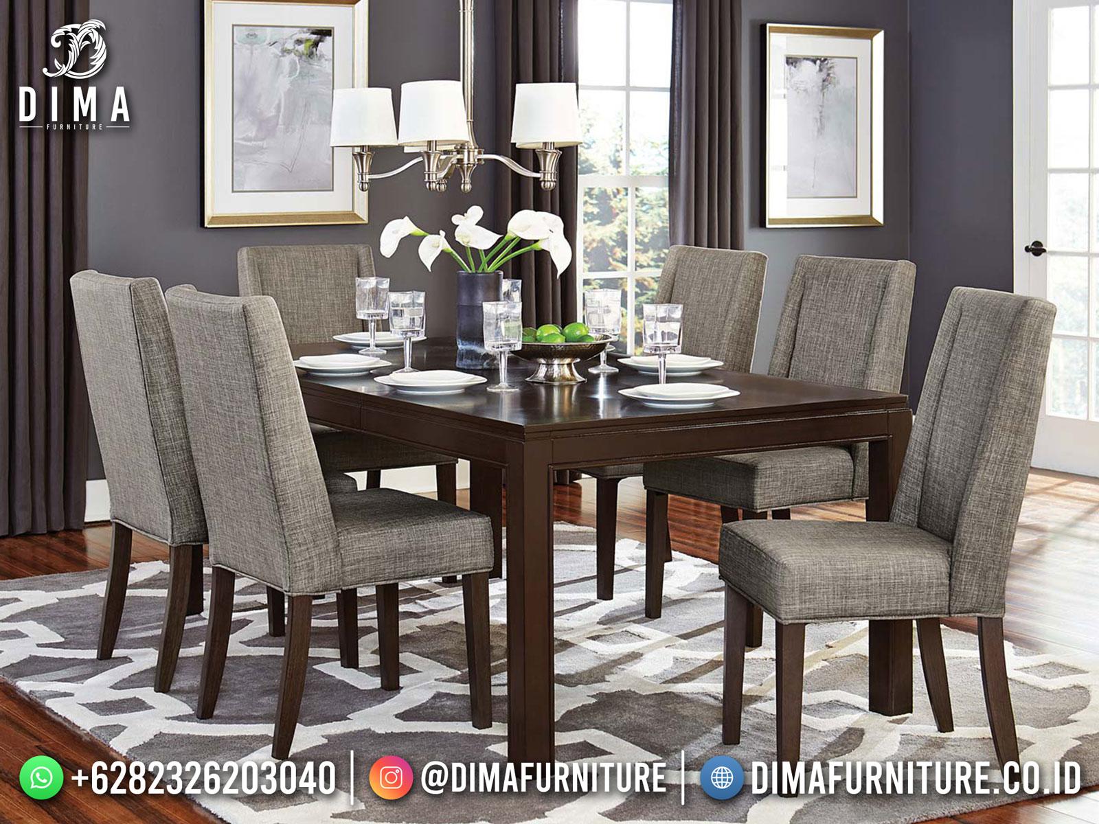 Amber Color Meja Makan Jepara Minimalis Design High Quality Solid Wood TTJ-1749