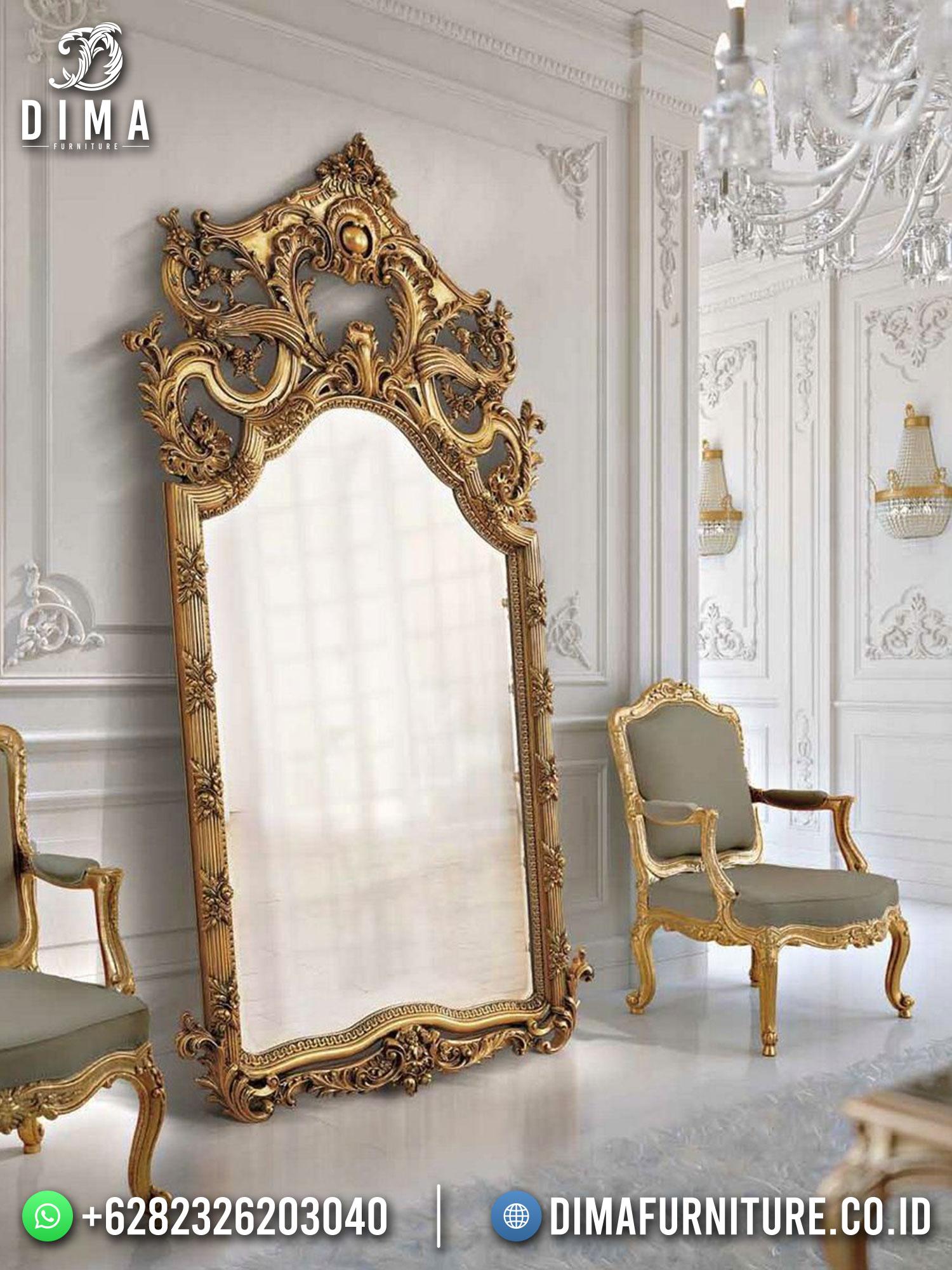 Cermin Hias Mewah Ukir Jepara Excellent Golden Color New Design TTJ-1722