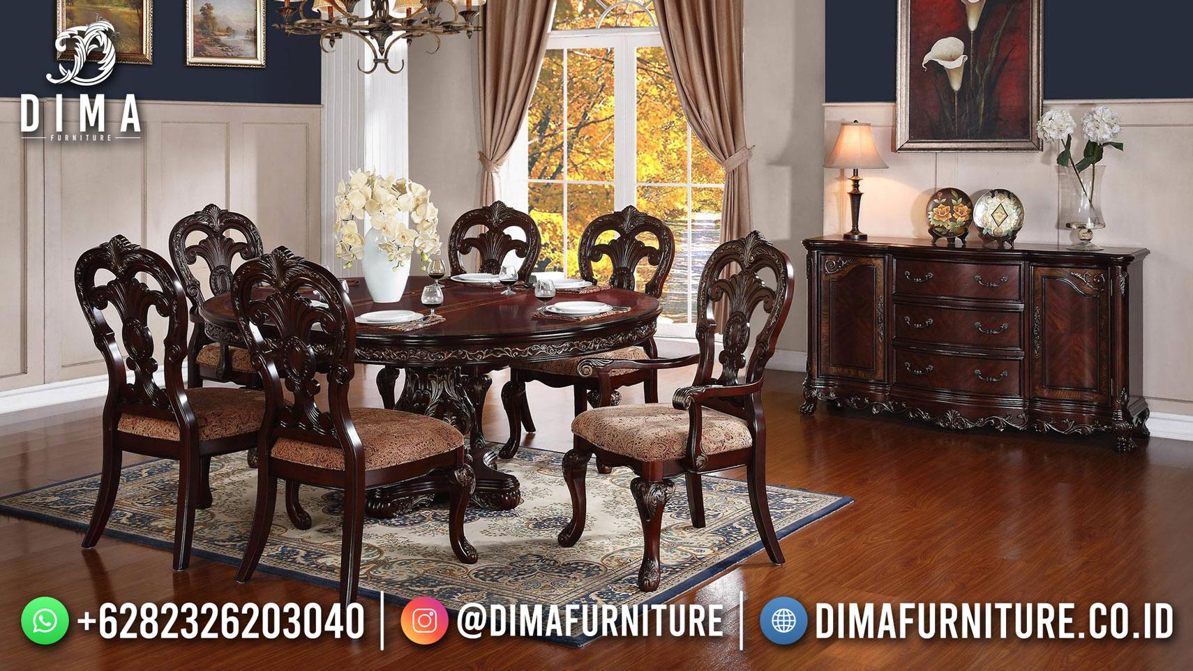 Kursi Makan Ukir Set Meja Makan Mewah New Design Glamorous TTJ-1733