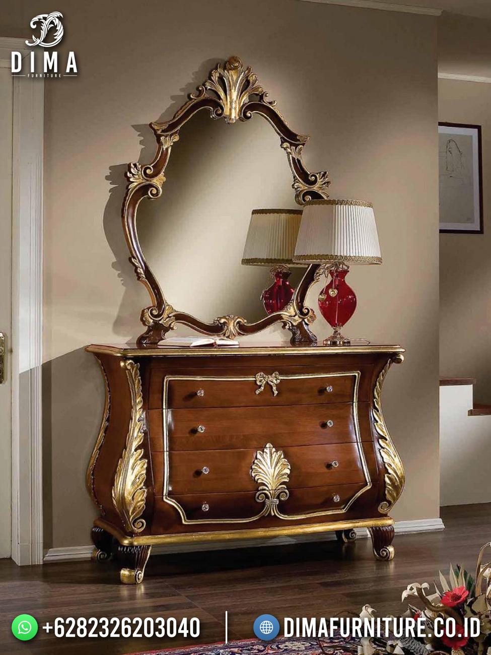 Meja Konsul Mewah Natural Jati Klasik Luxury Great Design Interior TTJ-1720