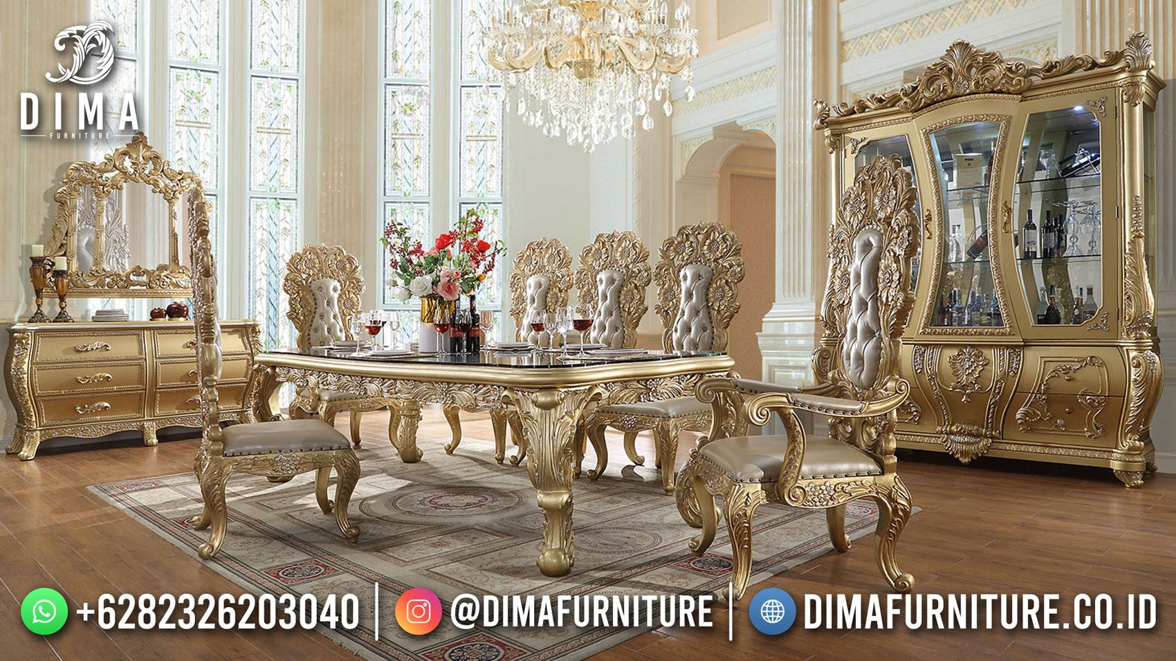 Meja Makan Mewah Terbaru Golden Duco Luxury Color Greatest TTJ-1771