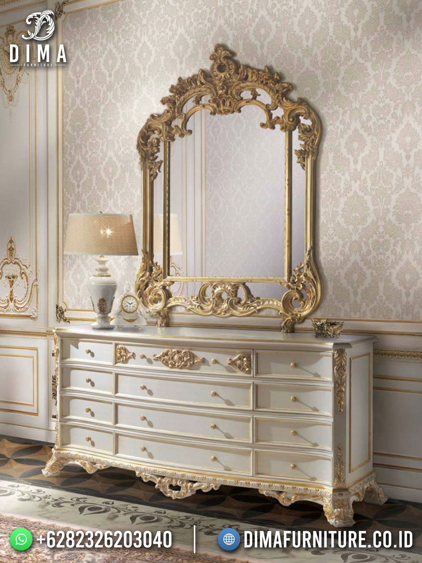 New Meja Konsul Jepara Elegant Design Italian Carving Luxury TTJ-1717