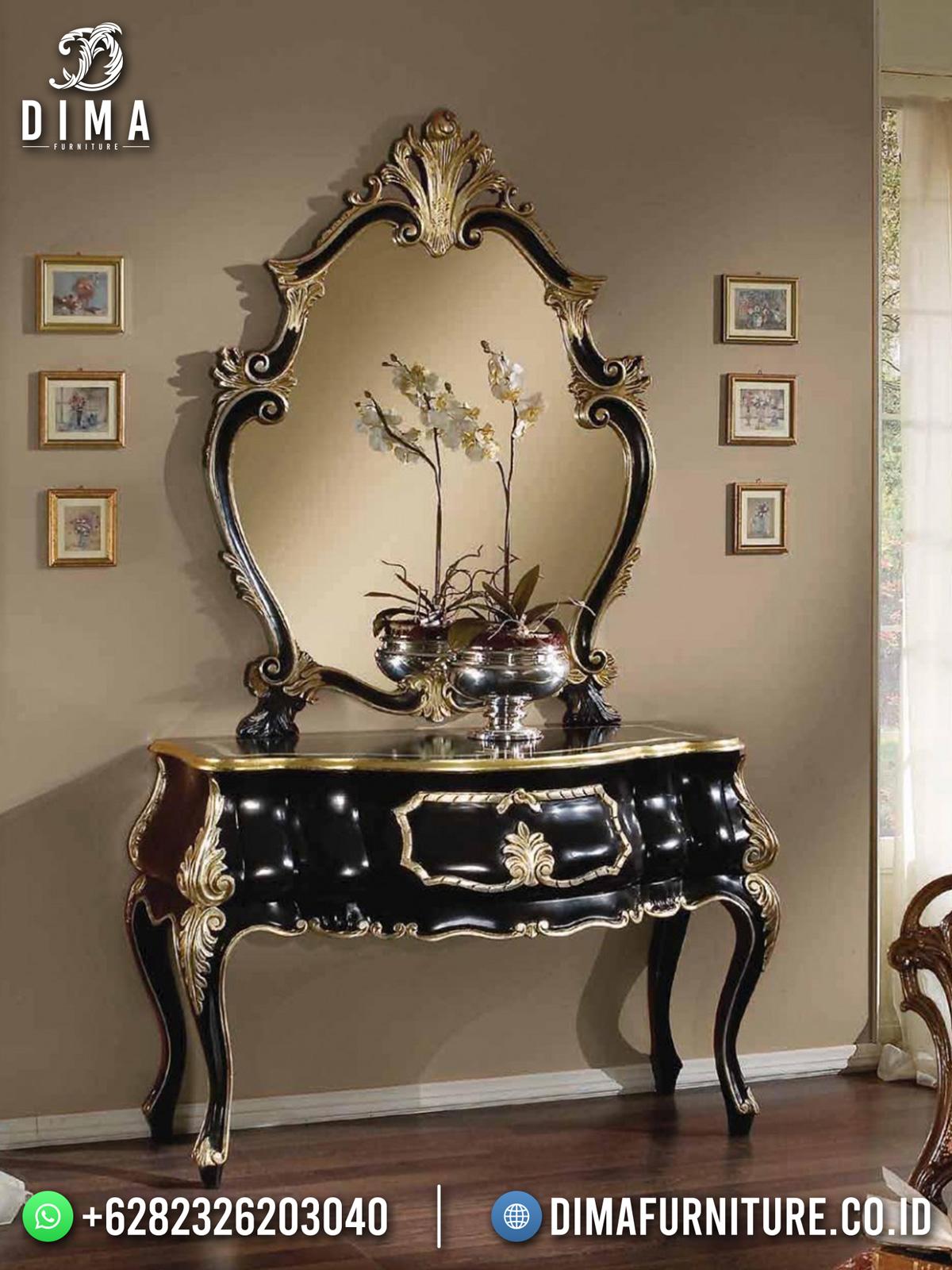 New Meja Konsul Jepara Luxury Carving Best Sale Black Edition Color TTJ-1703