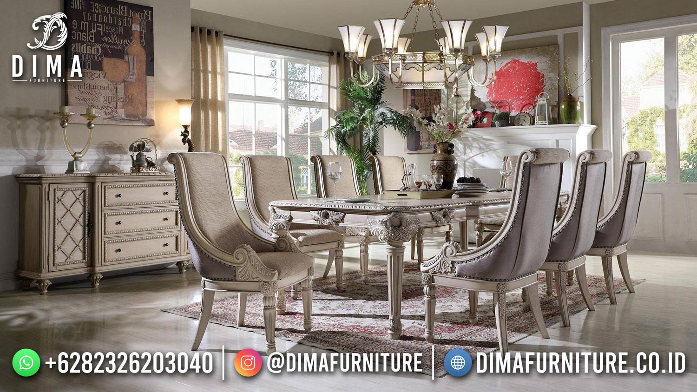 Set Meja Makan Mewah Ukir Jepara Luxury Classic Baroque TTJ-1773