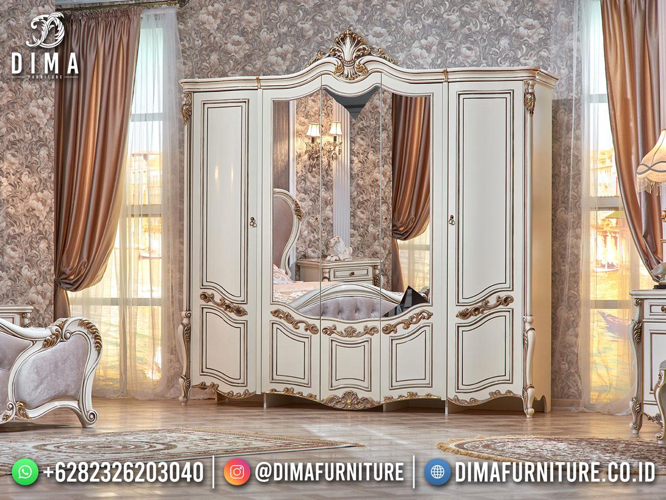 Best Design Lemari Pakaian Duco White Jepara Furniture TTJ-1837