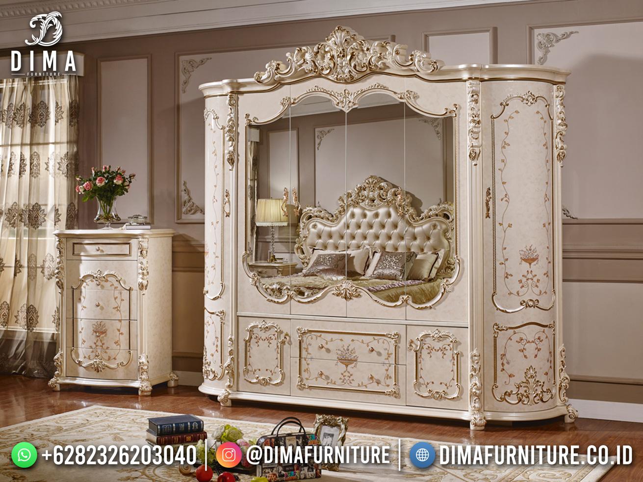 Glamorous Design Lemari Pakaian Baru Jepara Solid Wood TTJ-1842