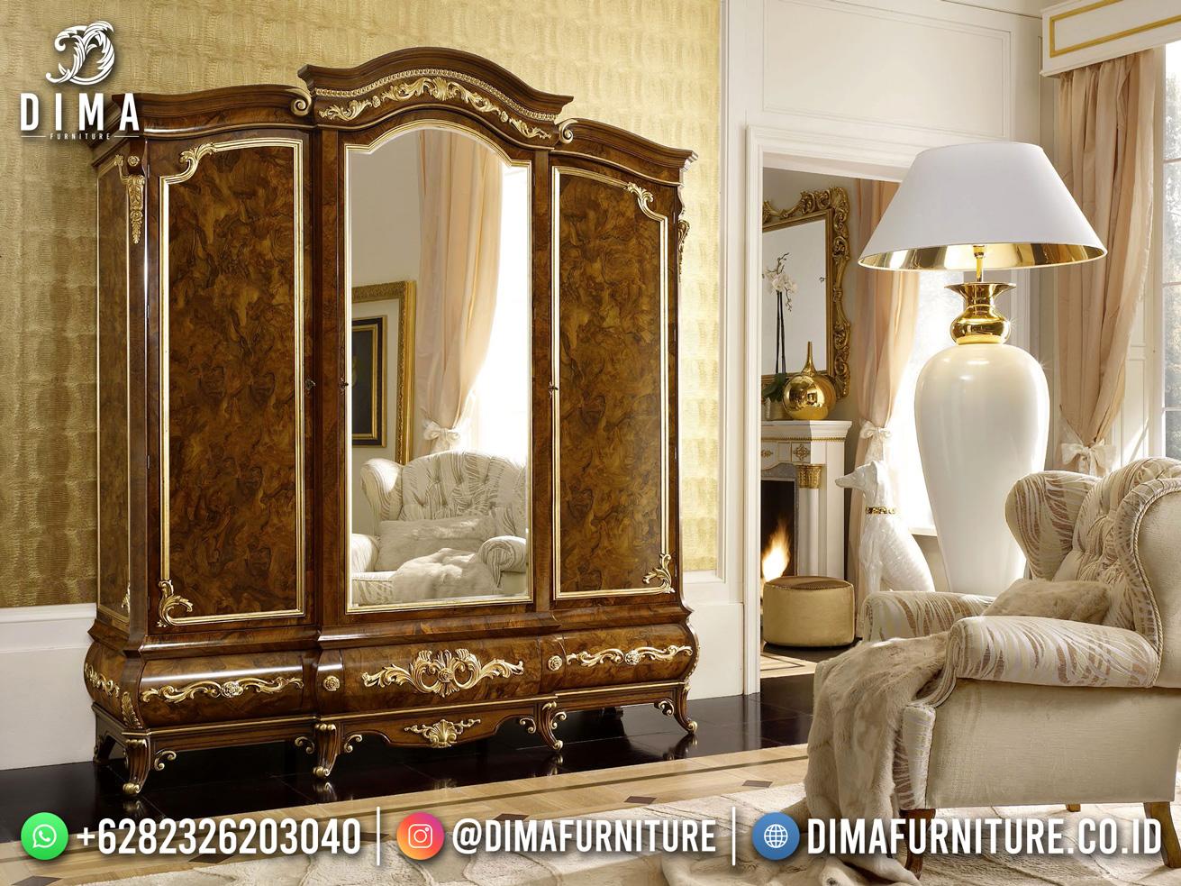 Jual Lemari Pakaian Jati 3 Pintu With Mirror TTJ-1839
