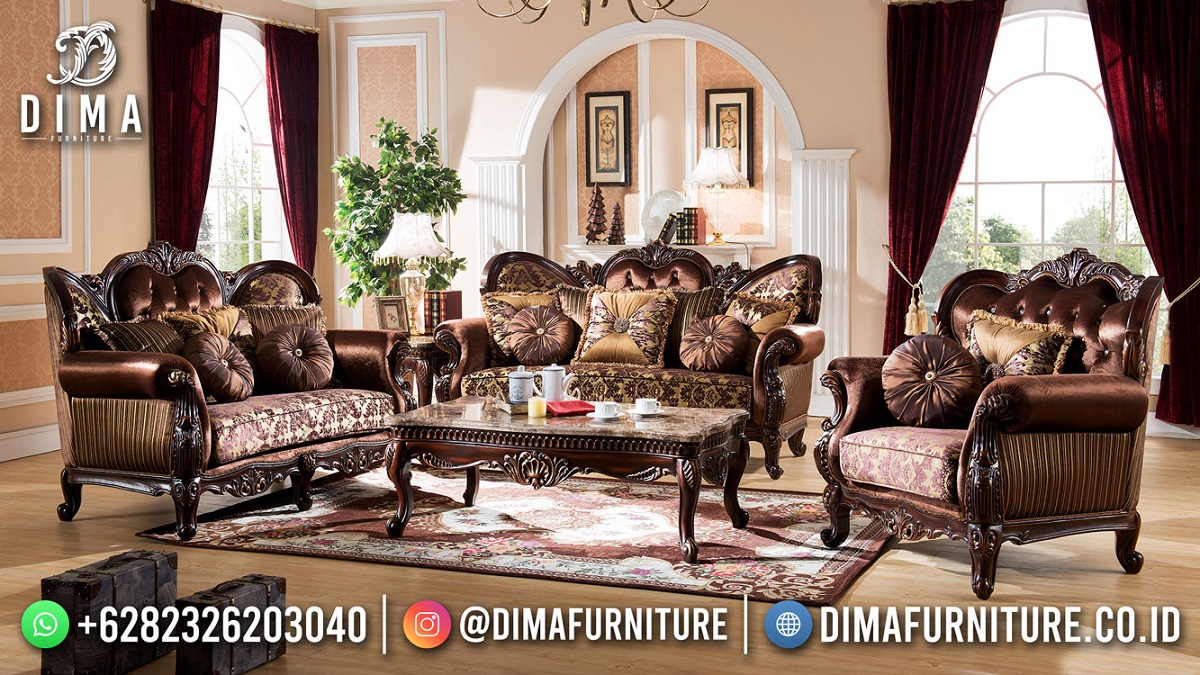 Kursi Sofa Tamu Jepara Classic Model Best Quality TTJ-1852