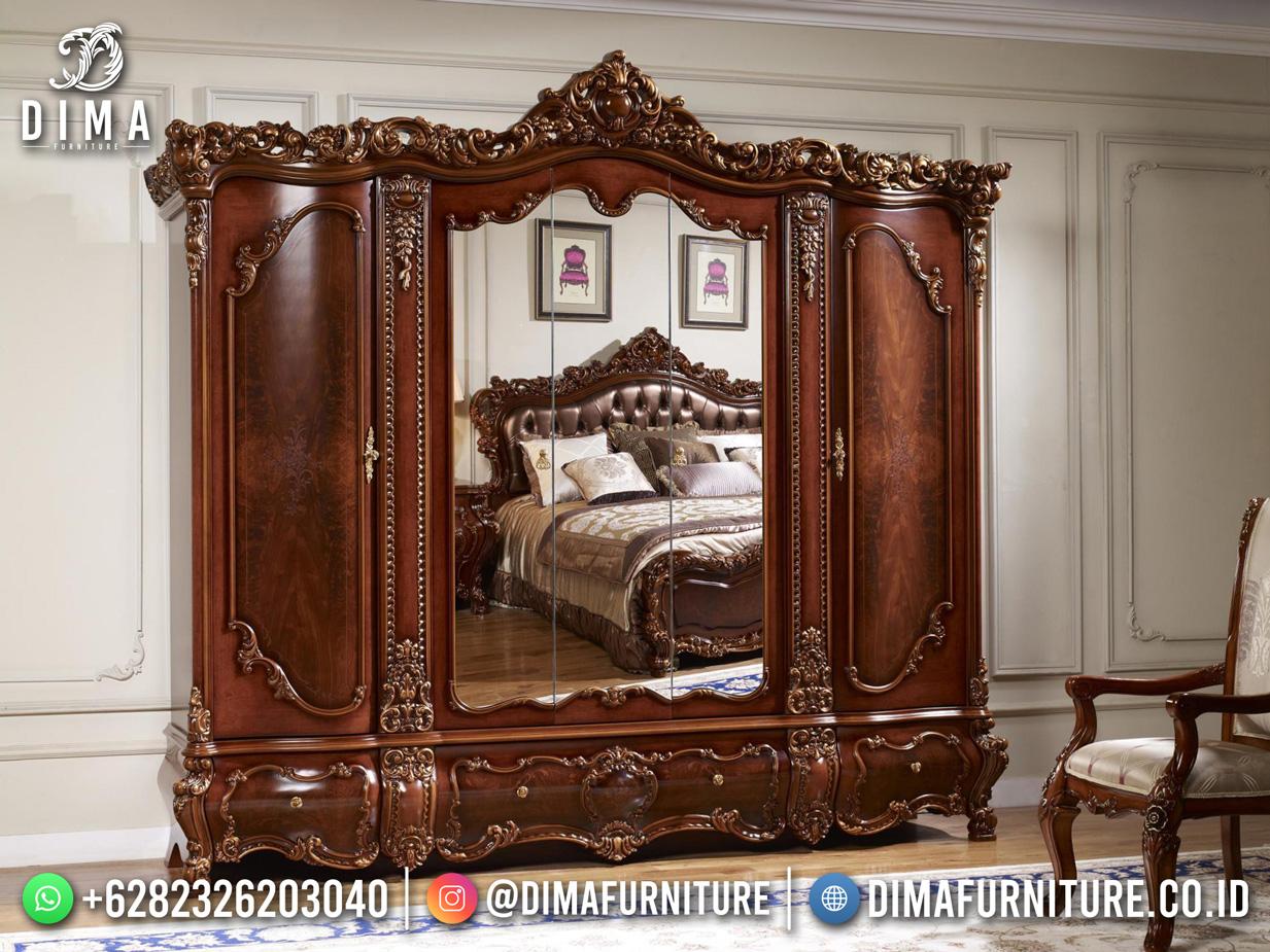 Lemari Pakaian Jati Jepara Luxury Carving Great Design TTJ-1838