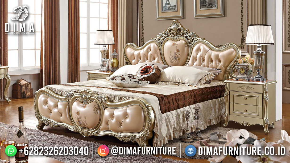 New Style Tempat Tidur Mewah Jepara Beauty Rose Gold TTJ-1833