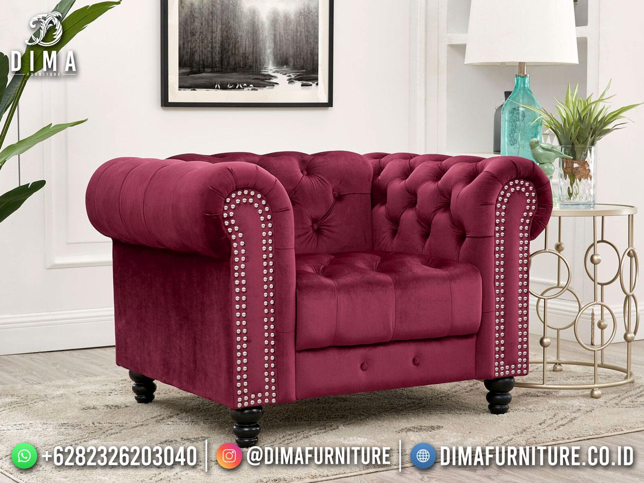 Palazzo 1 Seater Sofa Minimalis Beauty Magenta Good Quality TTJ-1793