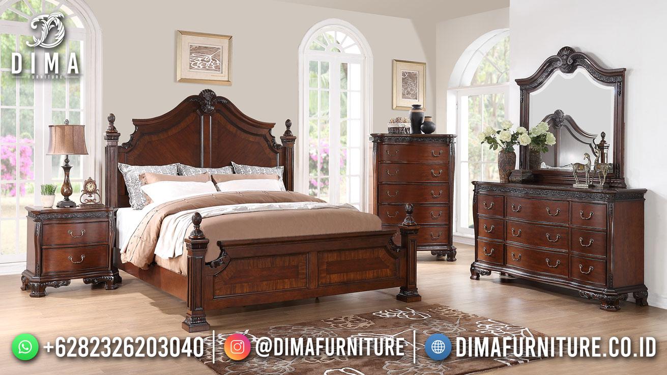 Tempat Tidur Minimalis Jati Natural Exclusive Salak Brown TTJ-1825