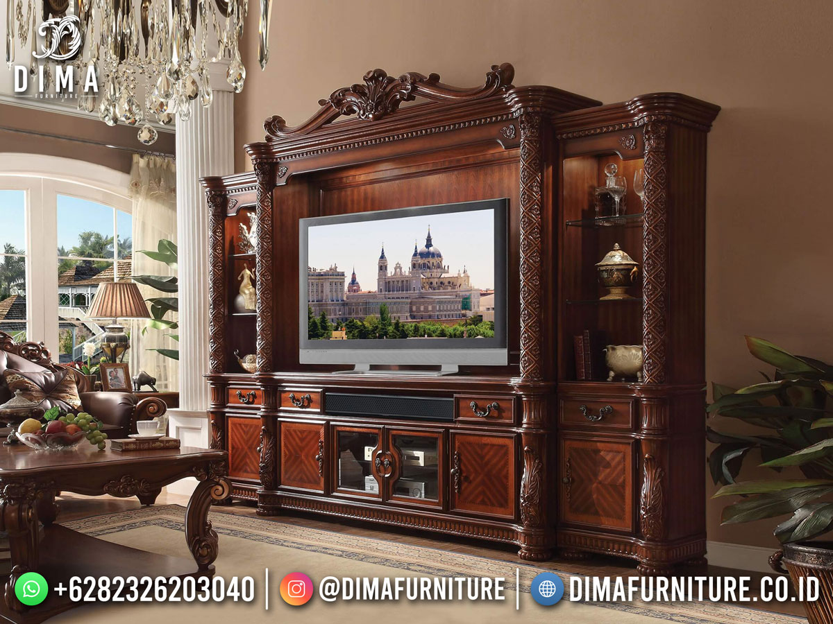 Amazing Design Super Mewah Bufet TV Jati Jepara Luxury Carving TTJ-1867