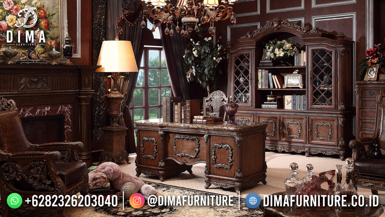 Best Sale Meja Kantor Terbaru Jati Jepara Elegant Design Furniture TTJ-1903
