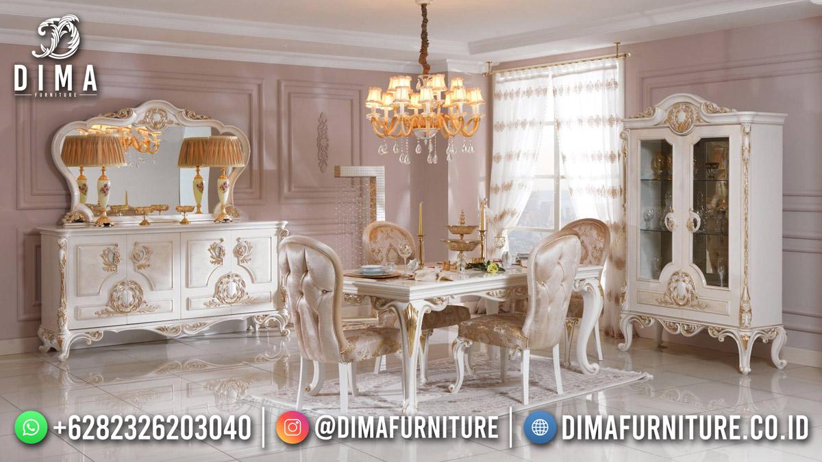 Desain Meja Makan Mewah Ukiran Jepara Beauty Glamour TTJ-1898