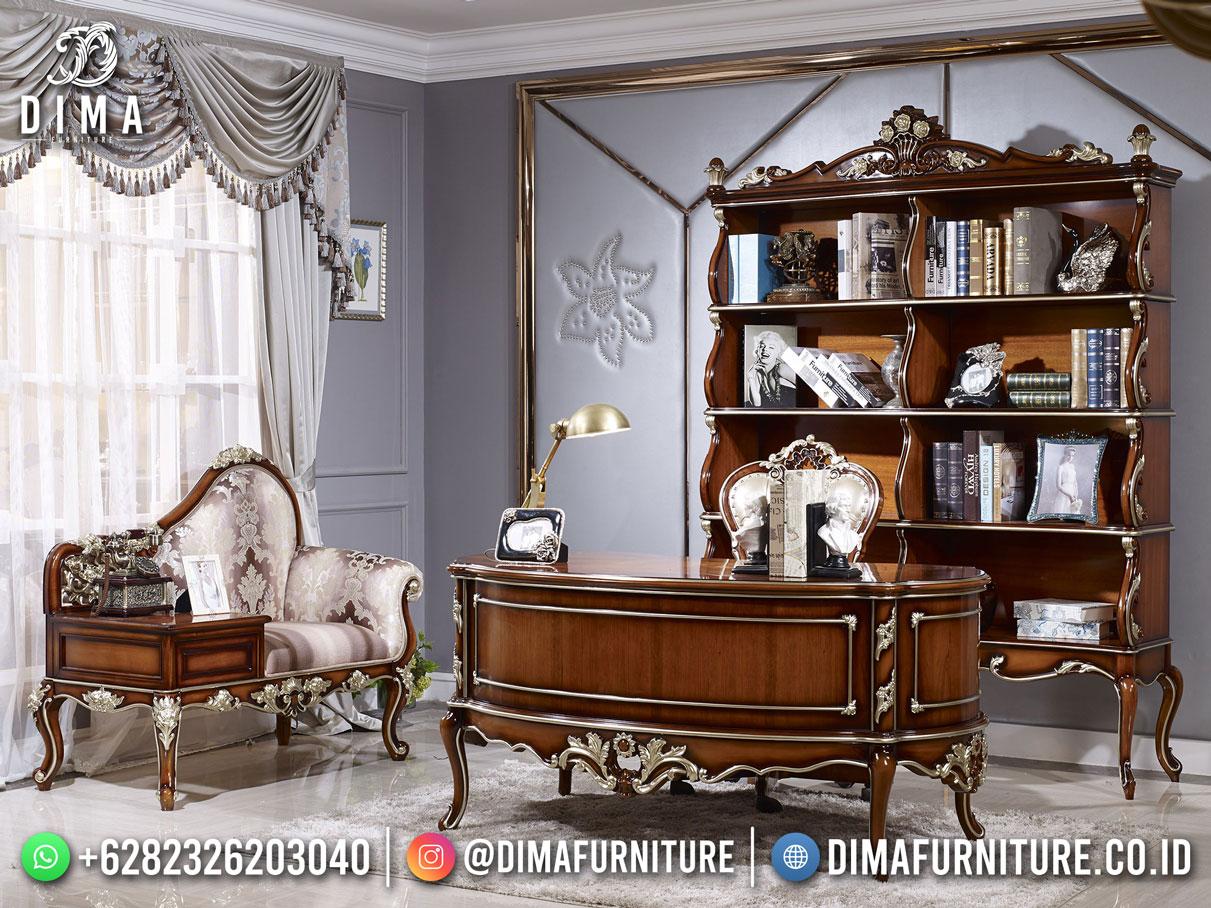 Desain Terbaru Meja Kantor Jepara Jati Terbaik Classy Furniture TTJ-1885