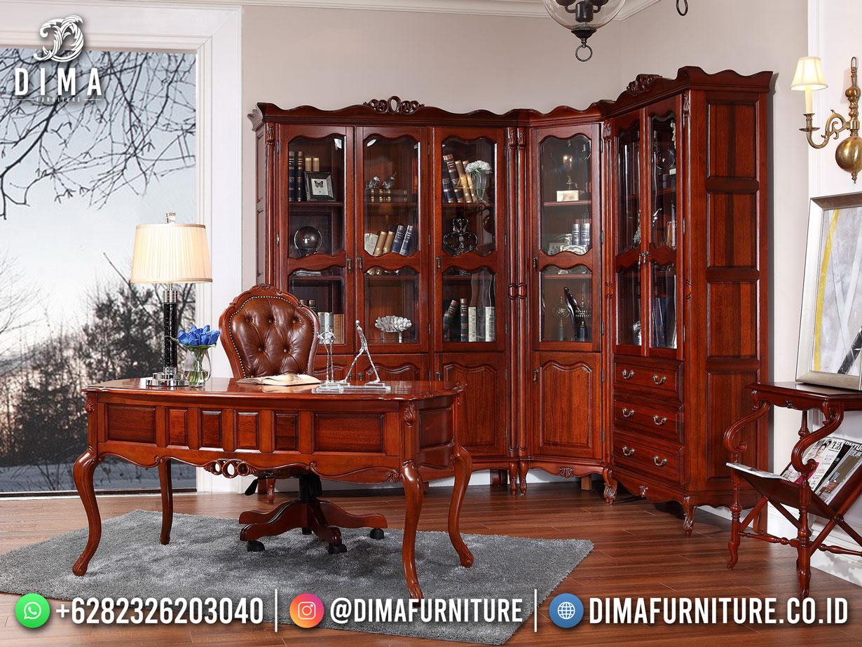 Harga Terbaru Meja Kantor Jepara Jati Elegant Comfrotable TTJ-1881