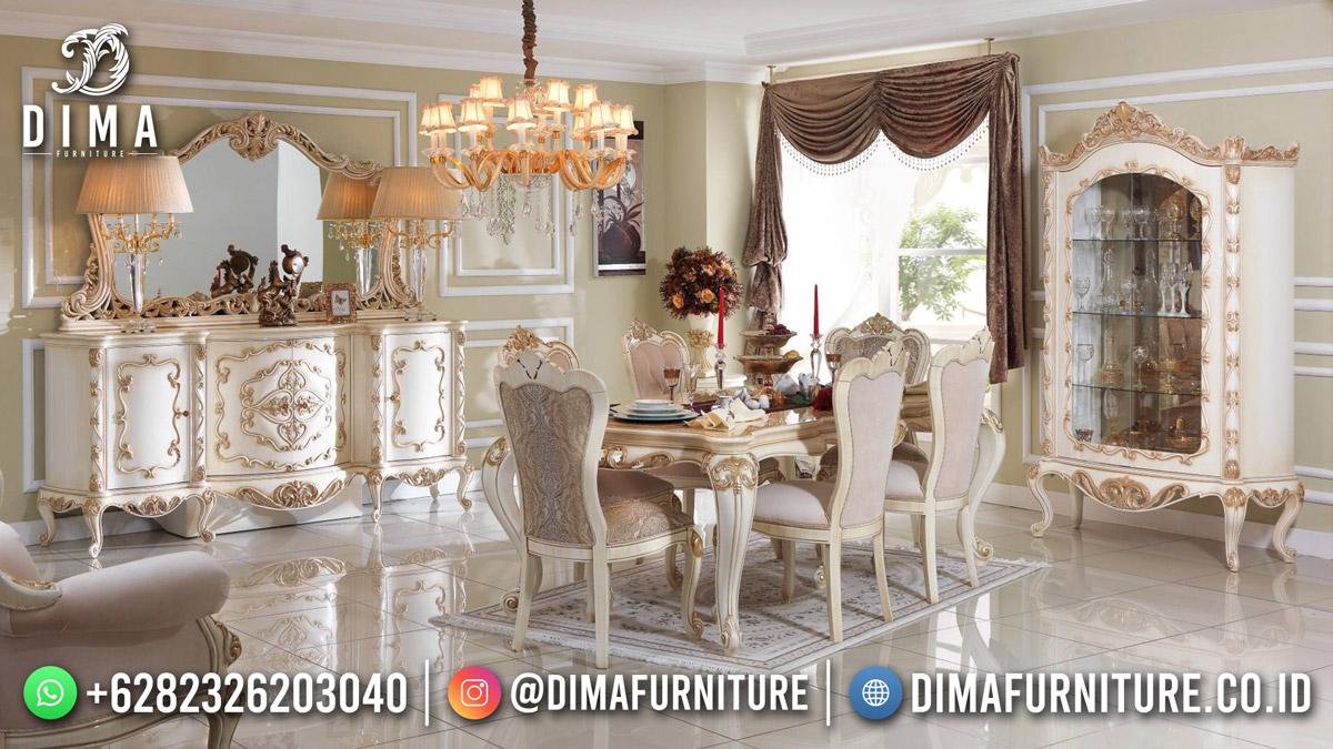 Jual Meja Makan Terbaru 6 Kursi Classy Furniture Elegant TTJ-1900