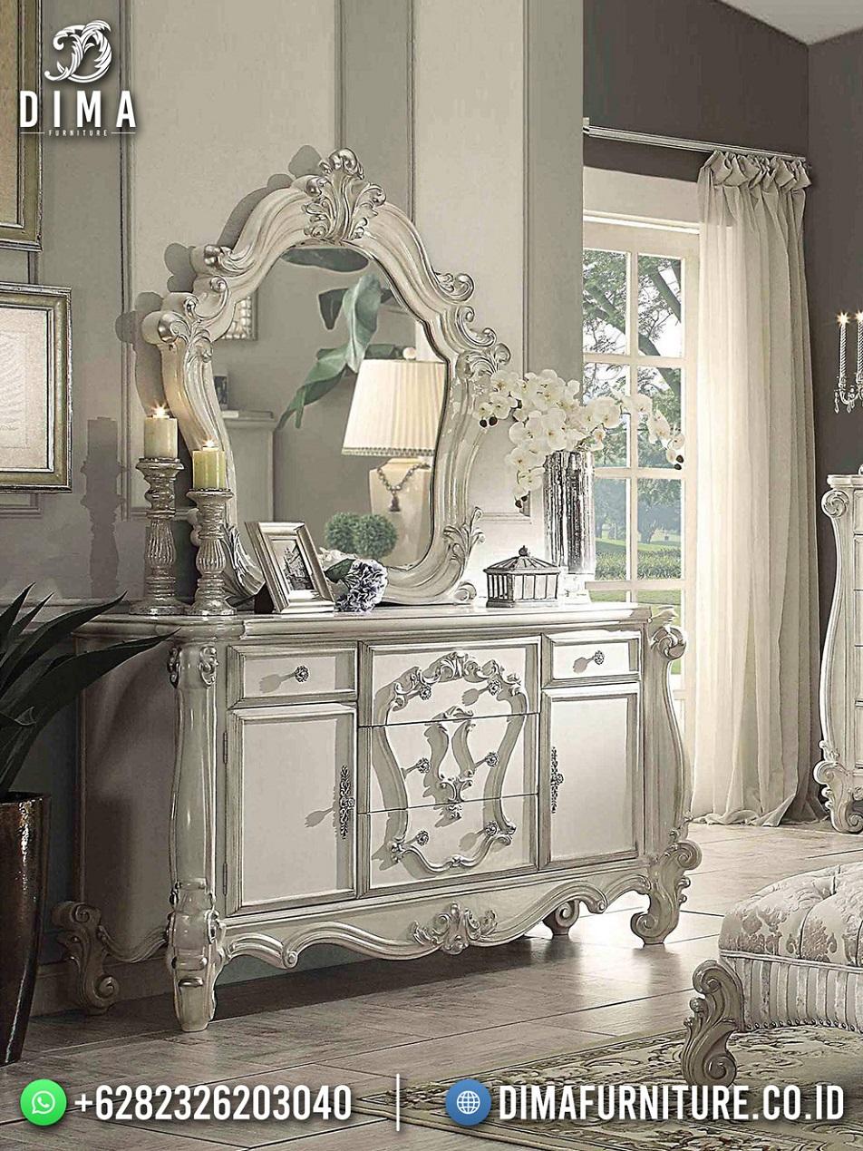 Meja Konsul Jepara Modern Cat Duco Putih Elegant Design TTJ-1931