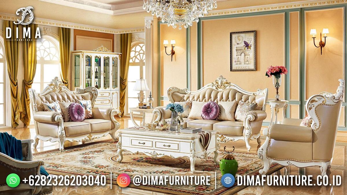 New Style Kursi Tamu Mewah Klasik White Duco Shinning Glamour TTJ-1912