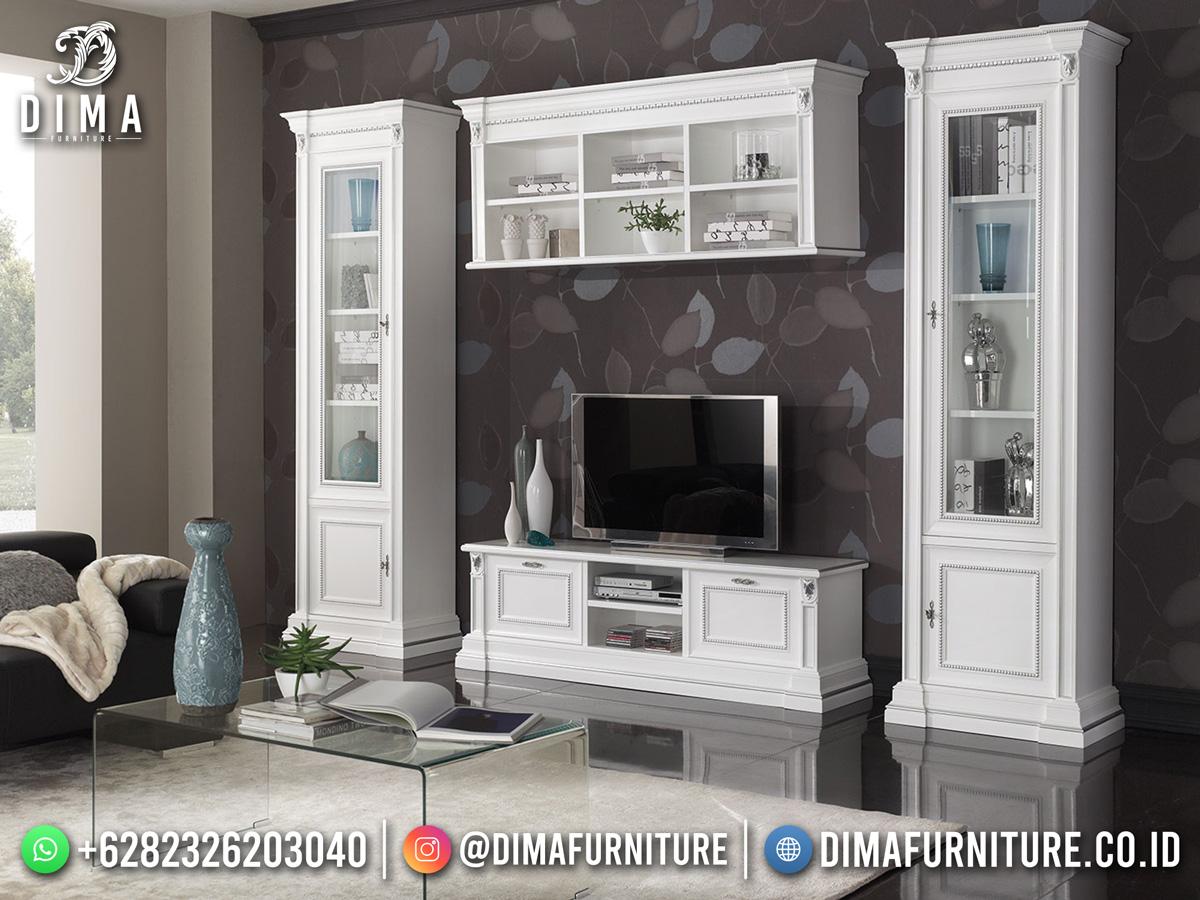 White Duco Bufet TV Terbaru Bandung Classy Design Furniture Kekinian TTJ-1873