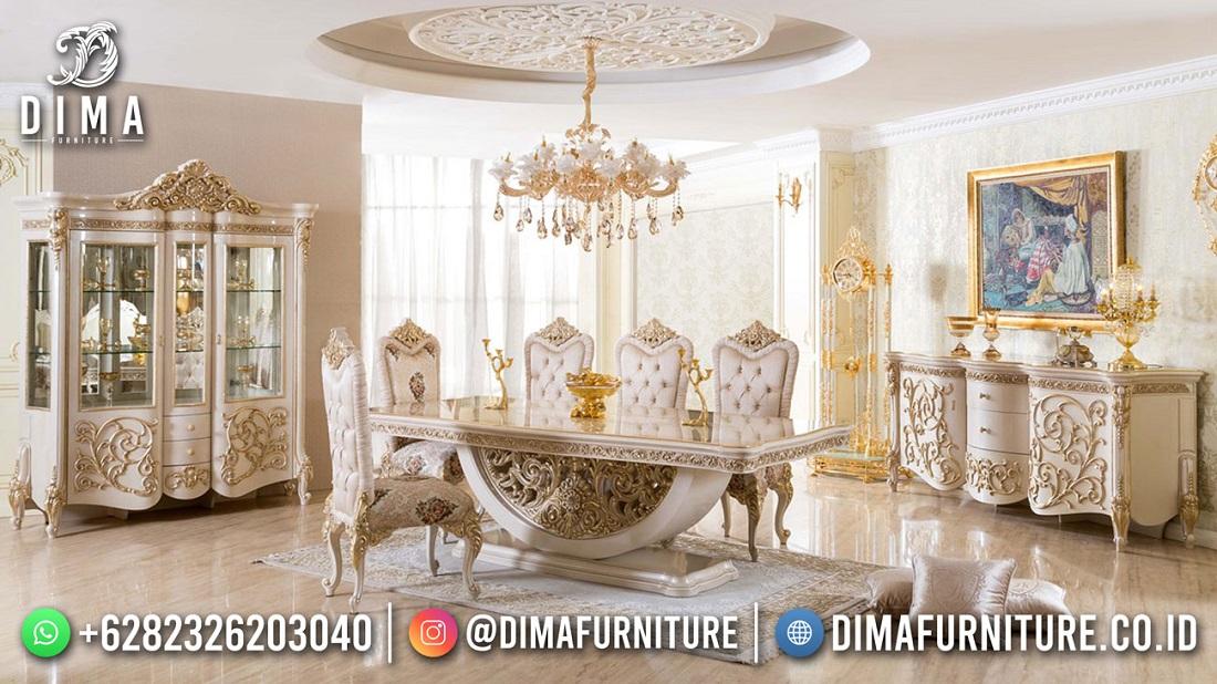 Best Sale Meja Makan Sultan Ukiran Super Mewah Luxury Glamorous TTJ-1945