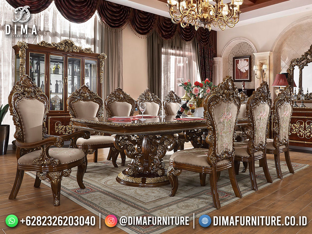 Classic Set Meja Makan Mewah Luxury Natural Color High Quality Product TTJ-1972