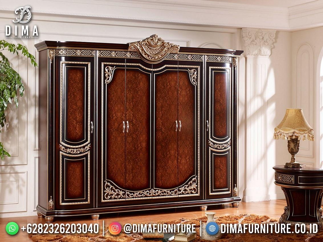 Desain Lemari Pakaian Mewah Sylvester New Product Furniture Jepara TTJ-1968