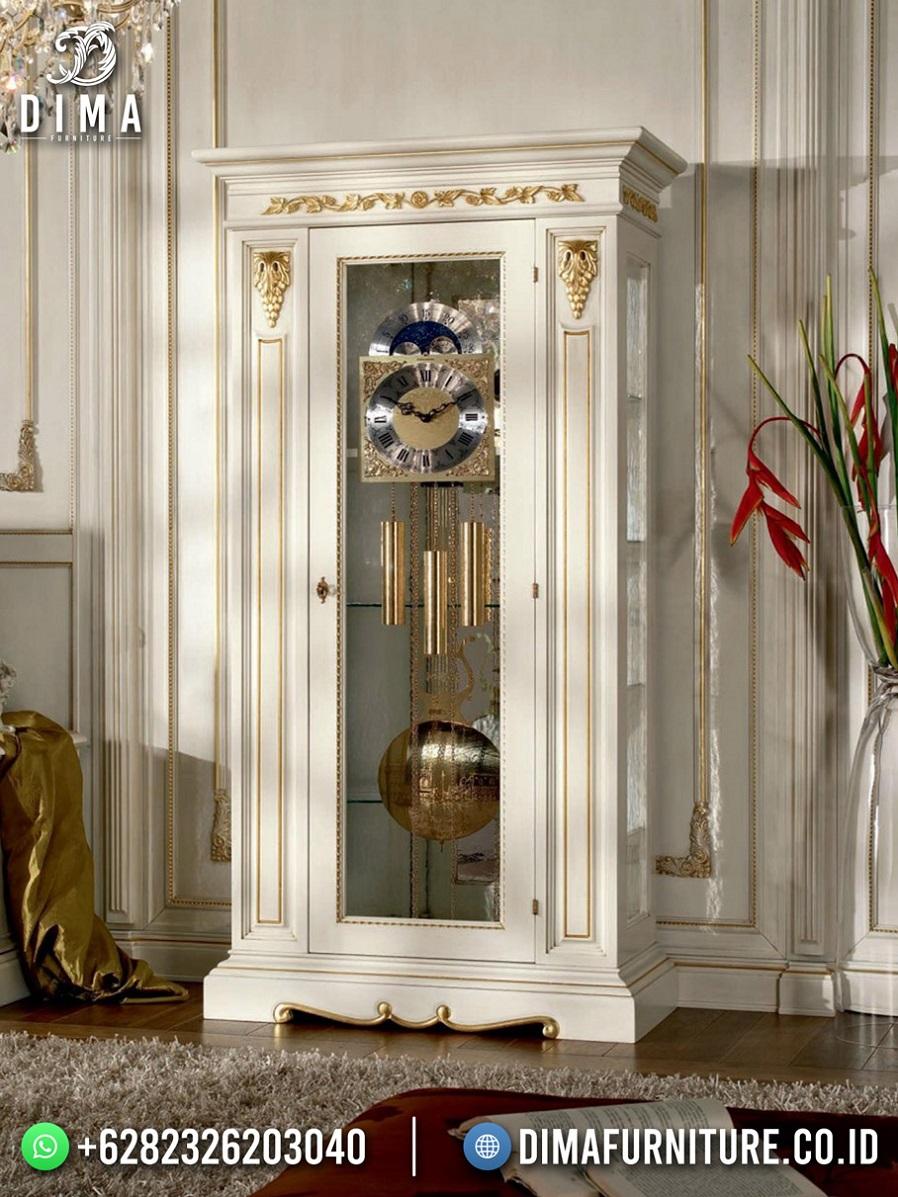 Lemari Hias 1 Pintu White Gold Duco Classy Luxury TTJ-1956