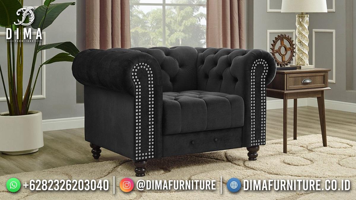 Luxury Sofa Tamu Terbaru Minimalis Black Elegant Design TTJ-1941