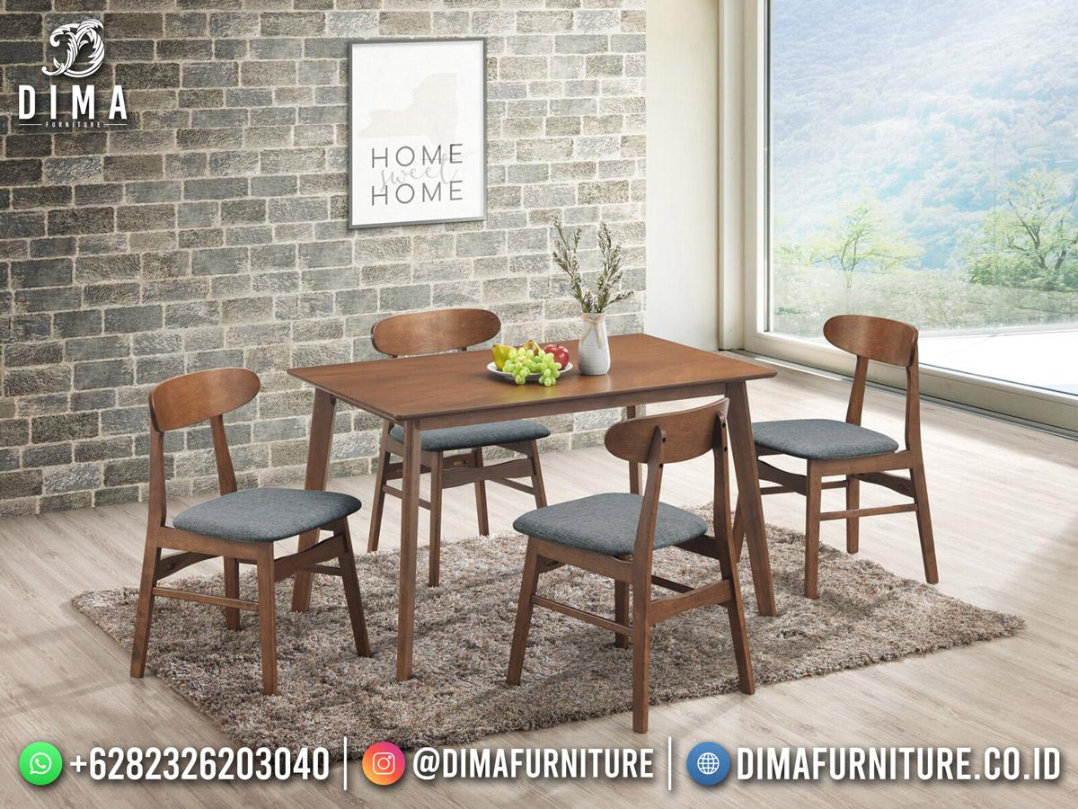 Meja Makan Minimalis Simple Natural Color New Furniture Jepara TTJ-1960