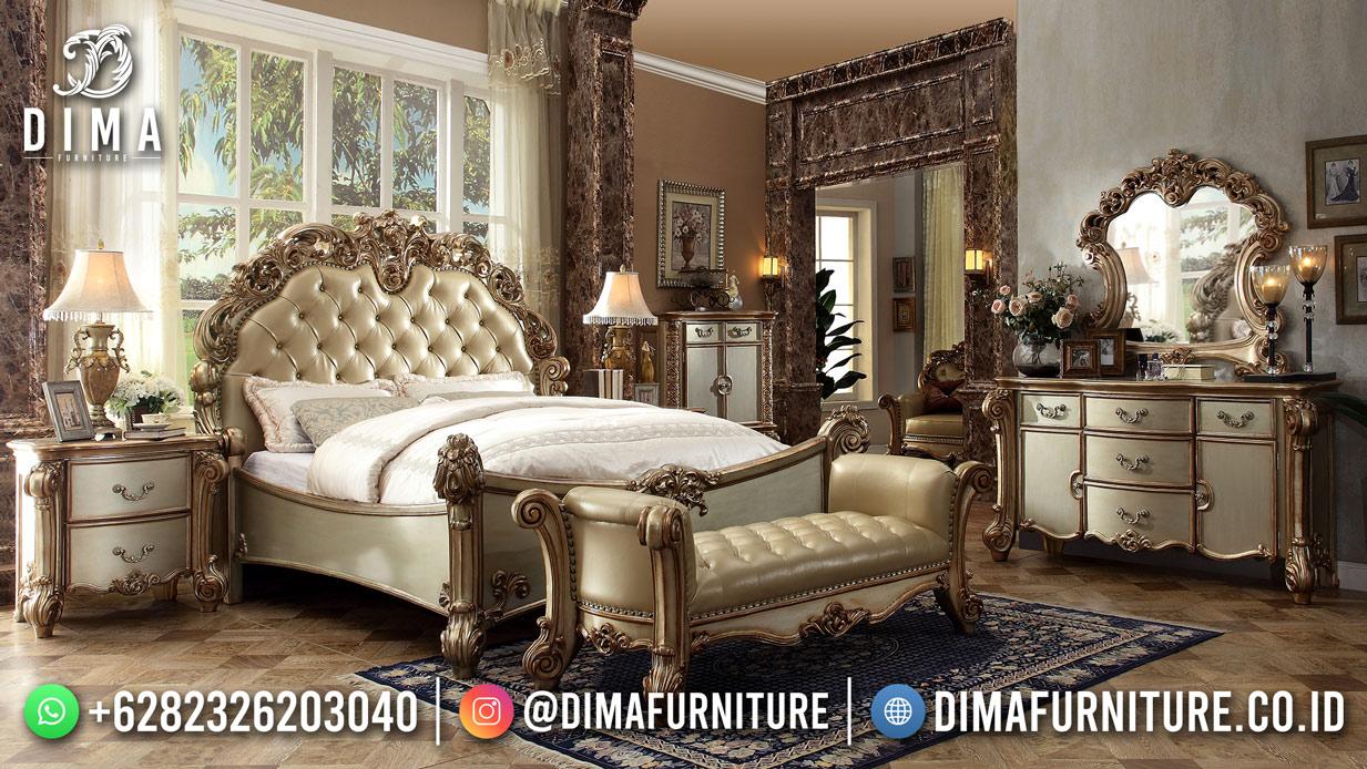 Harga Dipan Terbaru, Tempat Tidur Jepara Mewah, Kamar Set Mewah TTJ-2005