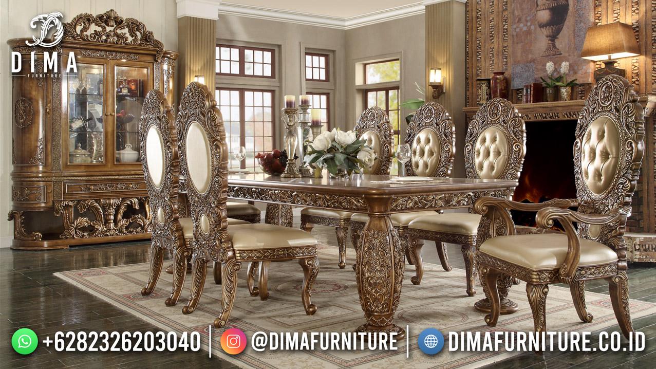Jual Meja Makan Terbaru Ukiran Mewah High Quality Furniture Jepara TTJ-1997