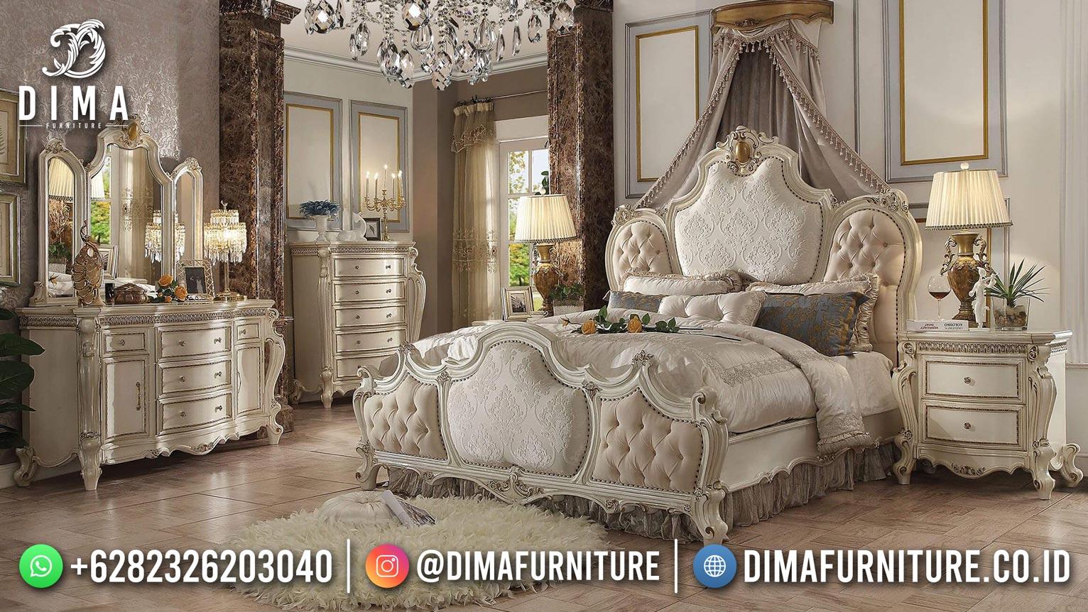 Model Ranjang Tempat Tidur Jepara Mewah Shabby Style Furniture TTJ-2008
