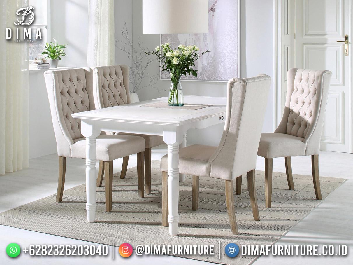 Model Terbaru Set Meja Makan High Recomanded Furniture Jepara TTJ-2004